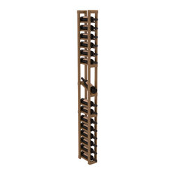 Wine Racks America - 1 Column Display Row Wine Cellar Kit in Redwood, Oak + Satin Finish - Make your best vintage the focal point of your wine cellar. High-reveal display rows create a more intimate setting for avid collectors wine cellars. Our wine cellar kits are constructed to industry-leading standards. You'll be satisfied. We guarantee it.