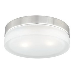 Vaxcel Lighting - Vaxcel Lighting CC56809 Loft 2 Light Flush Mount Ceiling Fixture - Features: