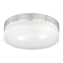 Vaxcel Lighting - Vaxcel Lighting CC56809 Loft 2 Light Flush Mount Ceiling Fixture - Features: