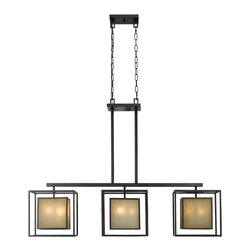 World Imports - World Imports 4173-55 Hilden Warm Mahogany Island Light - World Imports 4173-55 Hilden 9-Light Chandelier in Warm Mahongany