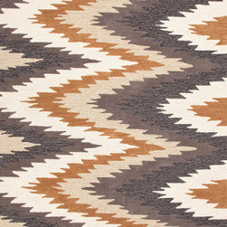 Jaipur Rugs - Transitional Tribal Pattern Gray /Black Polyester Tufted Rug - BR46, 3.6x5.6 - A youthful spirit enlivens Esprit, a collection of contemporary rugs with joie de vivre! Punctuated by bold color and large-scale designs, this playful range packs a powerful design punch at a reasonable price.