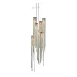 Nova Lighting - Nova Lighting Bead Modern / Contemporary 7-Light Pendant Light X-3436 - Sure to bring the sparkle and elegance of the 1920s to any design space the Nova Lighting Bead modern and contemporary 7-light pendant does not disappoint. Boasting strings of flowing brushed nickel beads that cascade over light sources, this is a truly beautiful fixture. Want to create a true installation piece with your pendant? Then buy a few of these and arrange them strategically in your space - this fixture is sure to gain positive attention and stat many conversations.