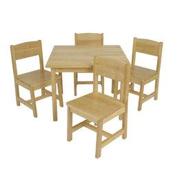 Kidkraft - KidKraft Farmhouse Table and Chair Set - Kidkraft - Kids' Table and Chair Sets - 21421 - KidKrafts Farmhouse Table and 4-Chair Set provides kids with a space perfect for playing board games working on homework and much more. This matching set features a classic sophisticated look and would look great in any child's bedroom.