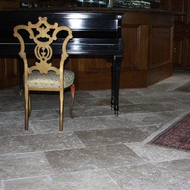 Custom Limestone Floor - 16x24x1.2 antique limestone pavers