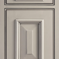 """Dura Supreme Cabinetry - Dura Supreme Cabinetry Sunbury House Inset Cabinet Door Style - Dura Supreme Cabinetry """"Sunbury House"""" inset cabinet door style in Cherry shown with Dura Supreme's """"Wild Cherry"""" with """"Charcoal"""" Glaze finish. (With beaded frame)"""