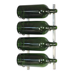 VintageView - VintageView 4-Bottle (3-6L) Metal Wine Rack - Make room for large wine bottles just about anywhere in your home. This sturdy, stylish metal rack is perfect for keeping 3- to 6-liter bottles on display and at the ready to please a crowd.