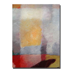Trademark Fine Art - Adam Kadmos 'Abstract Landscape' Gallery-wrapped Canvas Art - Show off your artistic style with this stunning abstract gallery-wrapped canvas art. This ready-to-hang canvas features lavish shades of grey,cream,peach,rest,and burgundy in an abstract geometric pattern,giving any room a colorful touch.