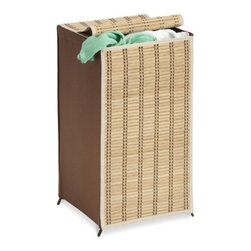 Honey-Can-Do Int. - Tall Bamboo Wicker Weave Hamper - Honey-Can-Do HMP-01619 Tall Wicker Weave Hamper Bamboo Laundry Organizer This standard rectangular hamper is taller than it is wide. About 3 feet tall. It is made of bamboo in a wicker design. Perfect for college students and more. IT has a cover to hide a unsightly mess. . Includes Limited Lifetime Warranty.                      Product Dimensions:  15 x 15 x 26 inches