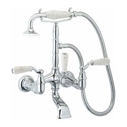 Phylrich K2394D Old Tyme Wall Mount Tub Set Trim Only (Rough Valve Required) -