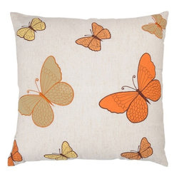 Rizzy Home - Natural and Orange Decorative Accent Pillows (Set of 2) - T03522 - Set of 2 Pillows.