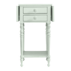 Stanley Furniture - Coastal Living Chesapeake Table - Like an old-time drawbridge over the Chesapeake Bay, this charming side table features a convertible top that fits about anywhere. Double drawers are perfect stowaways for remotes, keys, and guide maps. Made to order in America.