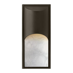Hinkley Lighting - Hinkley Lighting 1836BZ-GU24 Cascade 1 Light Outdoor Wall Lights in Bronze - The clean, modern lines of Cascade complement the rich alabaster glass, while creating a glowing, indirect lighting effect. The sleek aluminum construction adds to the design's versatility, making this contemporary style perfect for either interior or exterior use. Cascade is standard Dark Sky and ADA compliant.
