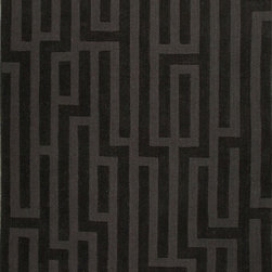 Jaipur Rugs - Handmade Looped and Cut Wool Black/Gray Solid Area Rug (8 x 11) - This collections offers simple modern geometrics in all the fashion colors. Hand loomed in 100% wool each rug make a bold solid color statement to compliment contemporary interiors. The pattern and texture is created through a high/low loop and pile construction.