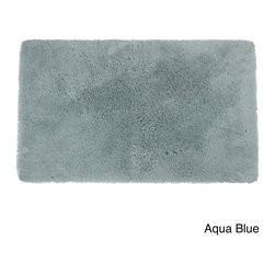None - Crowning Touch Luxury Plush Bath Rug - These bath rugs are constructed of 60-percent nylon, 40-percent polyester, and an extra-plush pile for luxury combined with performance. For non-slip safety, this bath rug is backed with latex foam-coated lining.