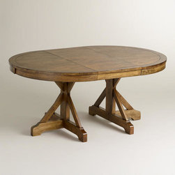 Round to Oval X Base Extension Table -