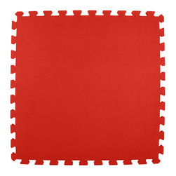 Greatmats - Greatmats Foam Floor Tile, 10 Pack, Red - This is a 10 pack of tiles. Free Shipping. Each tile is 2x2 ft in size and covers 4 SF, this 10 pack of foam tiles will cover 40 SF. 2 Border strips included per tile. Ships ground to your door.