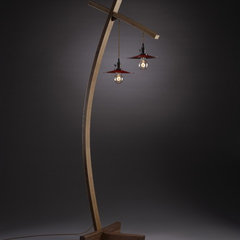 eclectic floor lamps by Brian A. Hubel, Furniture Maker