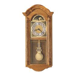 Howard Miller - Howard Miller Oak Dual Chime Pendulum Wall Clock   FENTON - 620156 Fenton