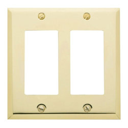 Baldwin Hardware - Beveled Edge 2 GFCI Wall Plate in Polished Brass (4741.030.CD) - Feel the difference as Baldwin hardware is solid throughout, with a 60 year legacy of superior style and quality. Baldwin is the choice for an elegant and secure presence. Baldwin guarantees the beauty of our finishes and the performance of our craftsmanship for as long as you own your home.