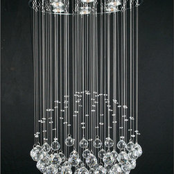 None - Crystal Empire 6-light Chandelier - Stunning crystal mark this elegant six-light chandelier. Designed to bring a jaw-dropping elegance to your home,this sleek,modern statement piece shows off your unique taste,while keeping a favorite room basked in its soft,warm glow.