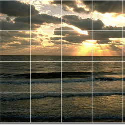 Picture-Tiles, LLC - Beach Photo Wall Tile Mural 26 - * MURAL SIZE: 48x72 inch tile mural using (24) 12x12 ceramic tiles-satin finish.