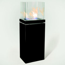"Radius - High Flame Fireplace by Radius - There's news in the fantastic ""feuerland"" by designer Michael Rosing. The elegant Radius High Flame Fireplace stands quite tall at nearly 60"" and features a modern black hearth and either polished or matte stainless steel. It's a great highlight to any room, even without the fascination of crackling flames. In reaction to the overabundance of low-quality products on the market today, RADIUS DESIGN creates indoor and outdoor furniture and home accessories of superior functionality, originality and modern style for savvy consumers. The majority of RADIUS DESIGN products are designed and made in Germany."