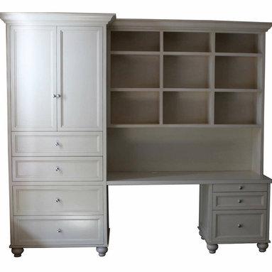 Huntington Desk/Hutch - Custom office/hutch unit for a girls room