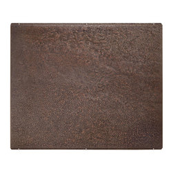 """36"""" Copper Range Hood Backsplash - Add the finishing touch with the 36"""" Copper Range Hood Backsplash. This backsplash adds a warm look to a cooking area while creating an easy-to-clean surface."""