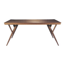 Fresno Modern Wood Dining Table Mid-Century Dining Table