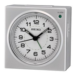 Seiko QHE086SLH Alarm Clock - 3.5 in. Wide - Welcome a new day with the Seiko QHE086SLH Alarm Clock - 3.5 in. Wide. Designed to be functionally appealing it features quartz movement a plastic crystal and a travel friendly construction. Luminous hands and a dial light make it easy to check the time in the dark. This clock also features a beep alarm with snooze and a quiet sweep second hand. A must-have beside your bed it has a sturdy metallic case and an appealing hue. About SeikoOver its 120-year history as a maker of fine timepieces the Seiko name has become synonymous with cutting-edge technology ultra-precision constant innovation and refinement. Millions worldwide rely on Seiko wristwatches to keep them on schedule. Two generations have grown up thrilling to Olympic and World Cup competitions where victory or defeat is defined within a fraction of a second all overseen by Seiko timekeepers. Seiko's far-reaching modern empire has its roots in a humble Tokyo clock repair shop opened by Kintaro Hattori in 1881 nearly a century before the introduction of its first landmark wristwatch. Today Seiko continues to offer a wide array of clocks and movements for any home including wall alarm desk mantel musical and heirloom quality decorative pieces. Beautiful on the outside quality components on the inside Seiko products will serve you for years to come.