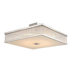 Trans Globe Lighting - Trans Globe Lighting 10165 PC Semi Flushmount In Polished Chrome - Part Number: 10165 PC