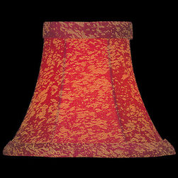 Lite Source - Candelabra Shade/Red Jacquard Bell - 3in.Tx6in.Bx5in.Sl - CANDELABRA SHADE/RED JACQUARD BELL - 3 in. Tx6 in. Bx5 in. SL