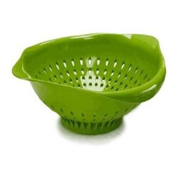 Preserve - Preserve Large Colander - Green - Case Of 4 - 3.5 Qt - Made in USA from 100% Recycled Materials Including Food Storage Containers