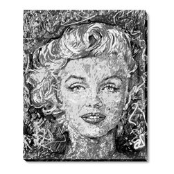 "overstockArt.com - Pierson - Marilyn Monroe - Marilyn Monroe is a portrait is of an American actress, model and singer who became a major lust symbol and Icon of the 20th century. It's a part of Jeffery Piersons ongoing ICON series. Jeffrey F Pierson was born 1974 in Newton, New Jersey. When asked about his work he describes: ""My work reflects my dreams, memories, and the world as I perceive it. It is my great hope and intention that my imagery be a catalyst, sparking the synapses in an unlit mind. Breaking the bonds of mental lethargy, and inspiring the viewer to see, to think, to feel."""