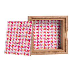 DENY Designs - Betsy Olmsted Watercolor Houndstooth Storage Box - Love yourself a knickknack or two (or three)? Well, then this is the box for you! The Amber Bamboo wooden Storage Box is available in two sizes with a printed exterior lid and interior bottom. So, you can still be a collector of sorts, but now you've got an organized home for it all. 100% sustainable, eco-friendly flat grain amber bamboo wood box with printed glossy exterior lid and interior bottom. Custom made in the USA for every order.