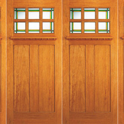 "6-Lite Stained Glass, Craftsman Mahogany Double Door and Two Sidelites - SKU#    AC-703-A_2-2-SBrand    AAWDoor Type    ExteriorManufacturer Collection    Arts and Crafts Front DoorsDoor Model    Door Material    Woodgrain    Veneer    Price    2480Door Size Options    2(30"")+2(18"") x 80"" (8'-0"" x 6'-8"")  $02(36"")+2(18"") x 80"" (9'-0"" x 6'-8"")  +$9802(36"")+2(18"") x 84"" (9'-0"" x 7'-0"")  +$12202(36"")+2(18"") x 96"" (9'-0"" x 8'-0"")  +$2300Core Type    Door Style    Craftsman , MissionDoor Lite Style    6 LiteDoor Panel Style    2 PanelHome Style Matching    Craftsman , Prairie , Bungalow , Mission , Arts and CraftsDoor Construction    Prehanging Options    PrehungPrehung Configuration    Double Door with Two SidelitesDoor Thickness (Inches)    1.75Glass Thickness (Inches)    3/4 , 1/2Glass Type    Triple GlazedGlass Caming    Glass Features    Beveled , Tempered , InsulatedGlass Style    StainedGlass Texture    StainedGlass Obscurity    Door Features    Door Approvals    FSCDoor Finishes    Door Accessories    Weight (lbs)    1190Crating Size    25"" (w)x 108"" (l)x 52"" (h)Lead Time    Slab Doors: 7 daysPrehung:14 daysPrefinished, PreHung:21 daysWarranty"