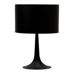 Modway - Modway EEI-589 Silk Table Lamp in Black - Discover rounded contours and minimalist lines with the sleek and contemporary Silk Table Lamp. Stay focused on precision as your room is recalibrated to the most inspired degrees of luminescence. Sustains your room's light while fading away sharp edges with a slender and versatile lamp true to its name.