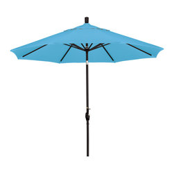 California Umbrella - 9 Foot Pacifica Fabric Aluminum Crank Lift Push Tilt Patio Umbrella, Black Pole - California Umbrella, Inc. has been producing high quality patio umbrellas and frames for over 50-years. The California Umbrella trademark is immediately recognized for its standard in engineering and innovation among all brands in the United States. As a leader in the industry, they strive to provide you with products and service that will satisfy even the most demanding consumers.
