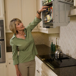 Kitchen Pull Down Shelves - Pull down shelves are ideal for those high cabinets that are hard to reach.