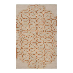 Surya - Surya Labyrinth Brown Indoor/Outdoor Polypropylene Rug, 2' x 3' - The Labyrinth collection of indoor/outdoor rugs is the perfect addition for your patio or sunroom. The cheerful graphic pattern of swirls and flowers against a solid neutral background will compliment any decor. Hand hooked from 1% polyester these sturdy pieces are on duty 24/7 to protect form the elements.  Imported.Material: 100% PolypropyleneCare Instructions: Blot Stains