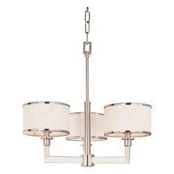Maxim Lighting - Maxim Lighting 12054WTSN Nexus Satin Nickel 3 Light Chandelier - 3 Bulbs, Bulb Type: 60 Watt Incandescent