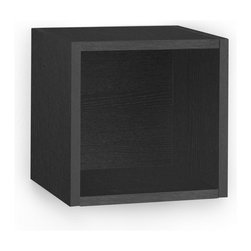 Way Basics - Way Basics Eco Wall Cube Shelf, Black - Storage Cubes specifically designed to hang on a wall? You asked, and we listened! Your favorite organizational solution has grown wings! Our new Wall Cubes maintain the simple design and functionality of the cube, but can now help you organize your wall space!