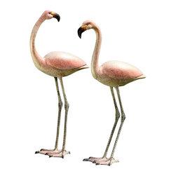 "SPI - Flamboyant Flamingos Garden Pair - -Size: 27"" H x 13"" W x 8.5"" D"