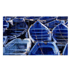 Picture-Tiles, LLC - Boat Ship Picture Bathroom Shower Tile Mural  18 x 30 - * Boat Ship Picture Bathroom Shower Tile Mural 1238