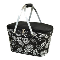 Picnic at Ascot - Collapsible Insulated Bag Night Bloom - Features: