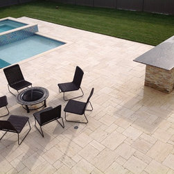 "4 sz. Pattern Set Travertine - Available to order directly from BV Tile & Stone. Contact us today (714) 772-7020. Retail and Wholesale. 4sz. Pattern Sets include (8""x8"" - 8""x16"" - 16""x16"" - 16""x24"" )"