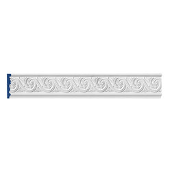 """Inviting Home - Phoenix Decorative Frieze Molding - Phoenix decorative frieze molding 7""""H x 1""""P x 8'00""""L 4 piece minimum order required chair-rail molding specifications: - outstanding quality chair-rail molding made from high density polyurethane: environmentally friendly material is hypoallergenic and fully recyclable no CFC no PVC no formaldehyde; - front surface of this molding has extra durable and smooth surface; - chair-rail molding is pre-primed with water-based white paint; - lightweight durable and easy to install using common woodworking tools; - metal dies were used for consistent quality and perfect part to part match for hassle free installation; - this chair-rail molding has sharp deep and highly defined design; - matching flexible molding available; - chair-rail molding can be finished with any quality paints; Polyurethane is a high density material--it's extremely lightweight and easy to install (and comes primed and ready to paint). It is a green material meaning its CFC and formaldehyde free. It is also moisture resistant--so it won't shrink flex or mold. What's also great about Polyurethane is that it's completely customizable and can be treated as wood (you can saw it nail it screw it and sand it). In addition our polyurethane material comes primed and ready to paint. There is a four piece minimum requirement for this molding purchase."""
