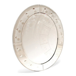 Go Home - Go Home Oval Bubble Paned Mirror - The Oval Bubble Paned Mirror is a supreme piece to give an antique touch to the surroundings. It is a part of our Antique European country collection well-known for fashionable and elite pieces of interior decoration. The oval shape gives it a shield-like outlook that will rightly give the old world charm to the surroundings.