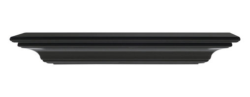 """Pearl Mantel - The Crestwood Fireplace Surround, Black, 36"""" - Pride of place. This classically designed surround shelf puts your treasures where they belong, on a slightly elevated plane."""