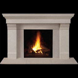 Ashfield Stone Fireplace Mantel - A stone fireplace mantel to be envious of, the Ashfield would look great in any contemporary home. Sleek and sophisticated, it is available in both standard and custom sizes and a choice of finishes.